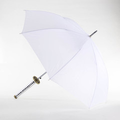 DELUXE WHITE SAMURAI UMBRELLA