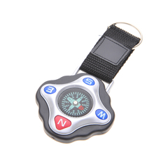 KEYCHAIN RUGGED SQUARE COMPASS