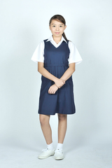 PRIMARY PINAFORE WITH ZIP