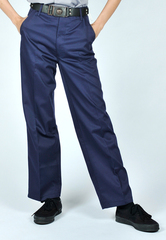 NAVY BLUE LONG PANTS WITH GARTER