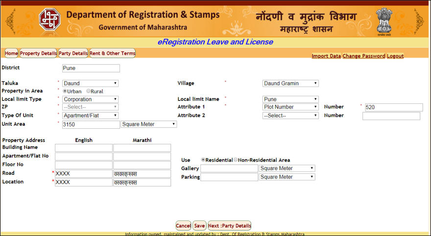 Stamp duty and registration laws for rentals in Maharashtra