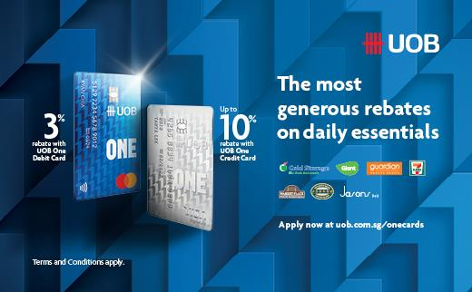 Singapore's most generous rebate cards on daily essentials for everyone, everywhere!