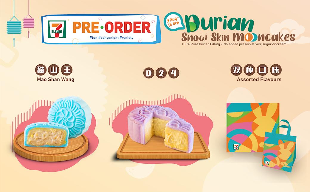 Durian Snowskin Mooncakes Pre-Order