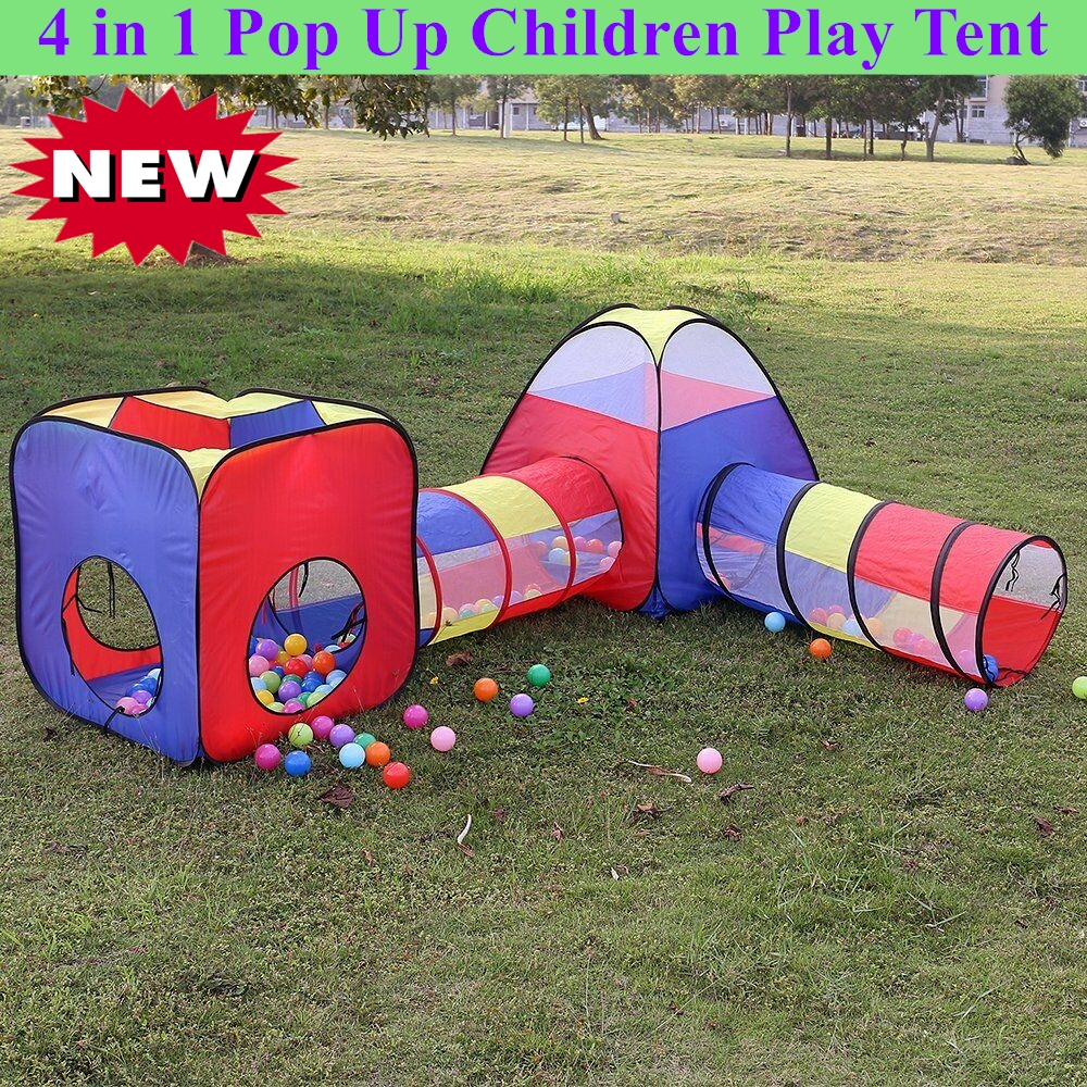 OUTAD Foldable Kids Play Tent Ball Pits 4 in 1 Pop Up Children Play Tent Ie
