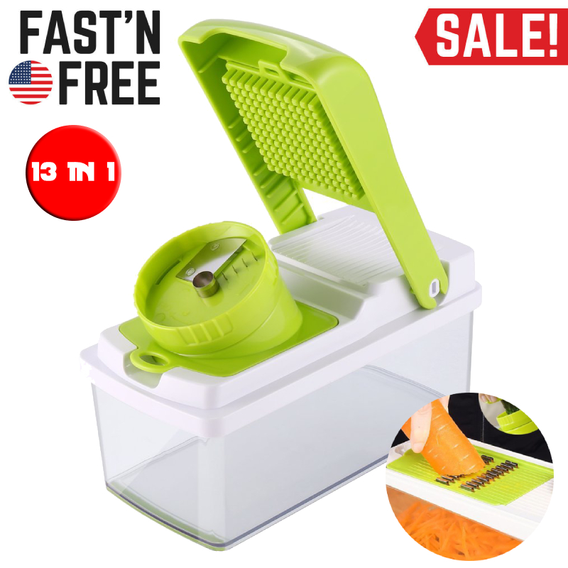 Free Ship VEGETABLE Food Cutter Slicer Mandoline Veggie Kitchen Dicer Chopper