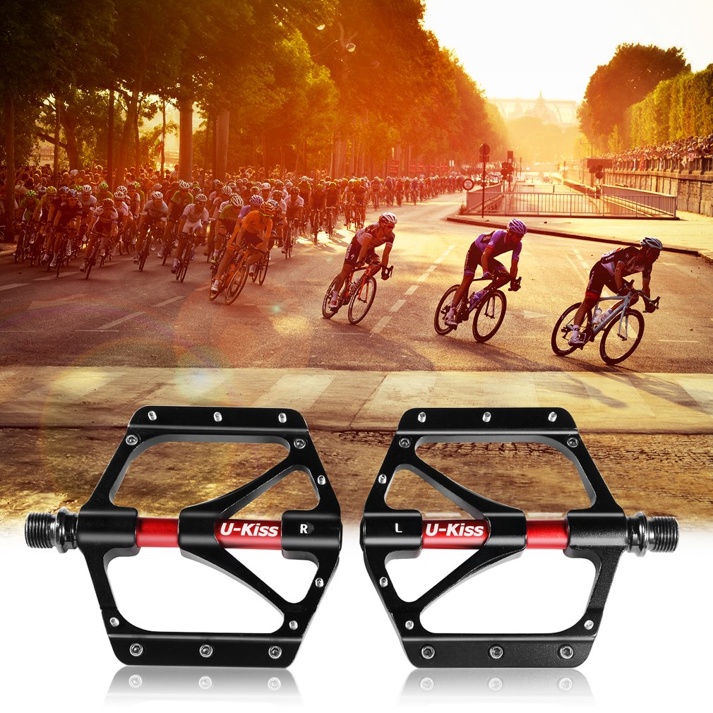 U-KISS Road MTB Mountain Bike Cycling 4 Sealed Bearing Aluminum Pedals Black