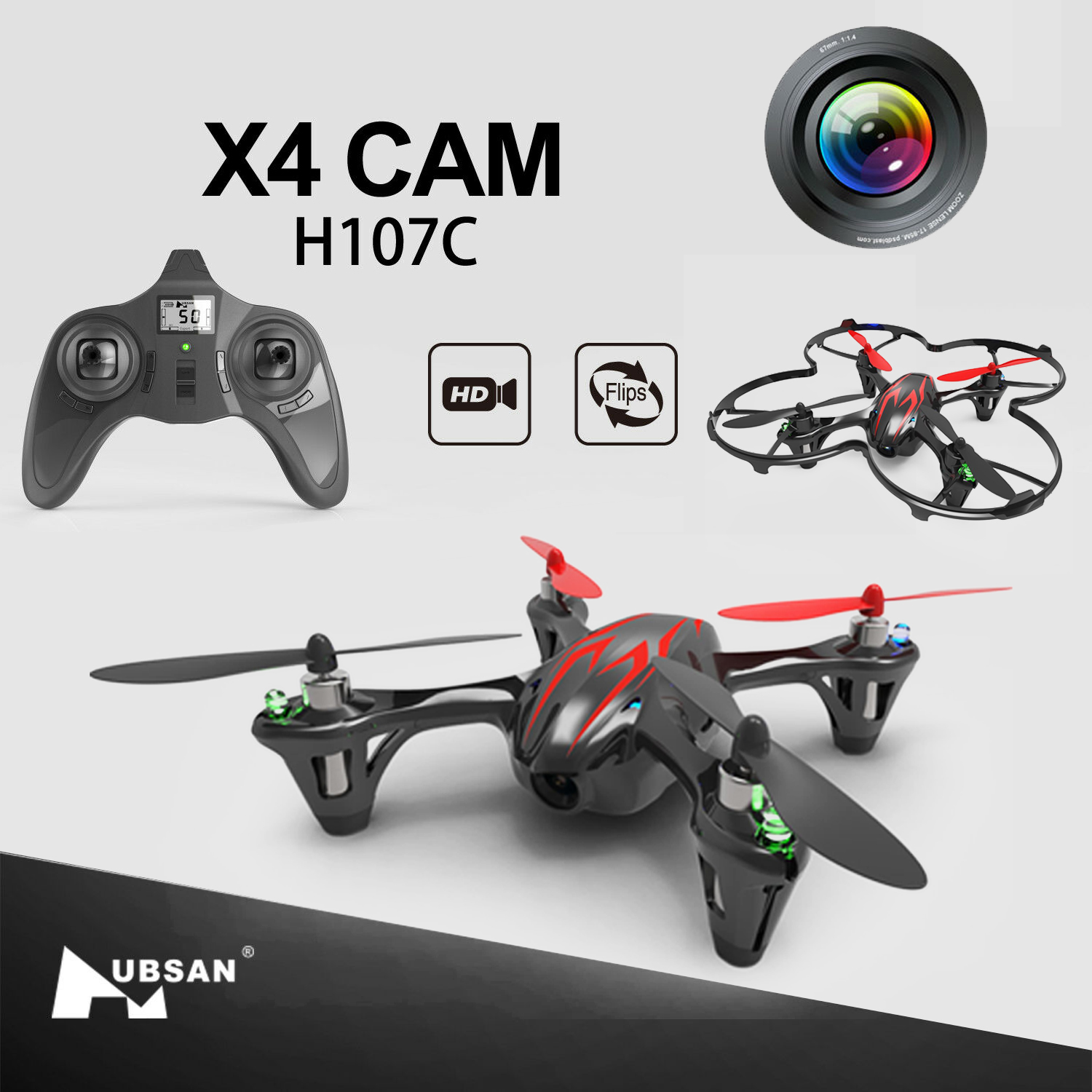 New Hubsan X4 H107C RC Drone Quadcopter With Video Recorder HD 720P Best Gift