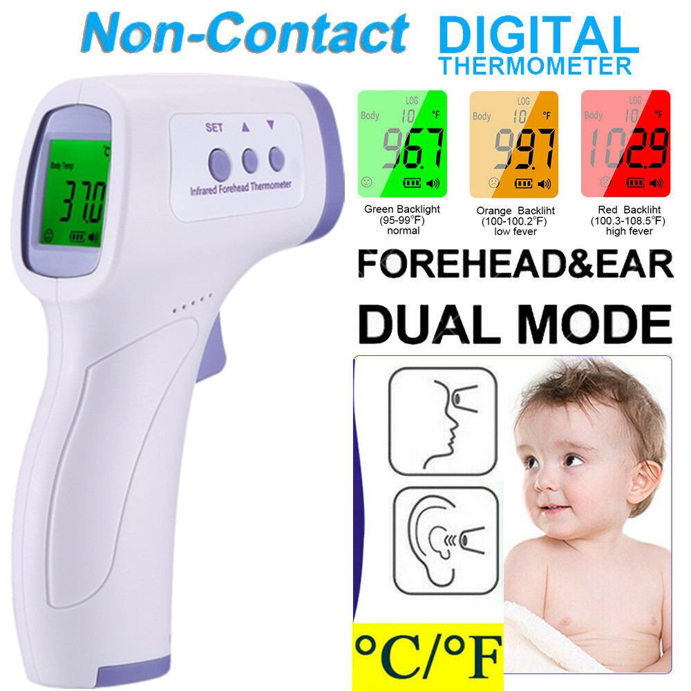 Medical NON-CONTACT Body Forehead Ear IR Infrared Laser Digital Thermometer M