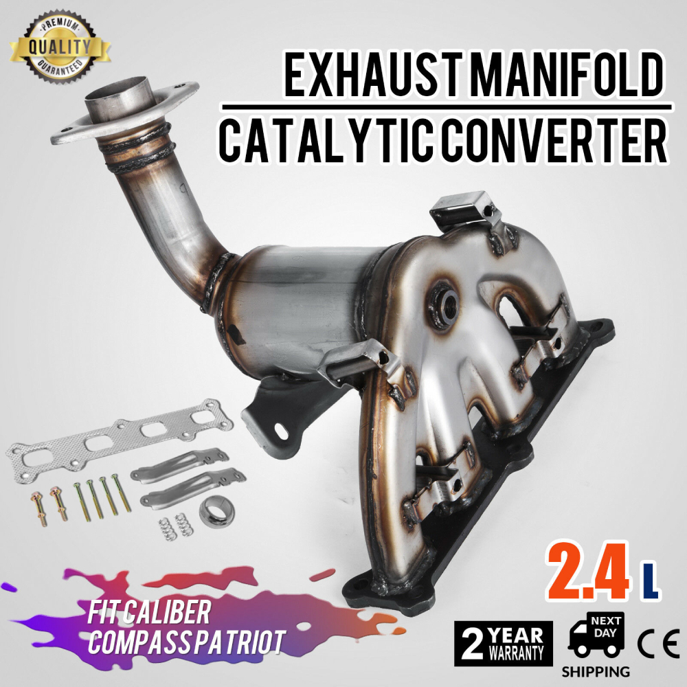 2007-2017 Jeep Compass EPA Compliant Exhaust Manifold Catalytic Converter with Gasket Kit Fit for 2007-2008 Dodge Caliber 2007-2017 Jeep Patriot