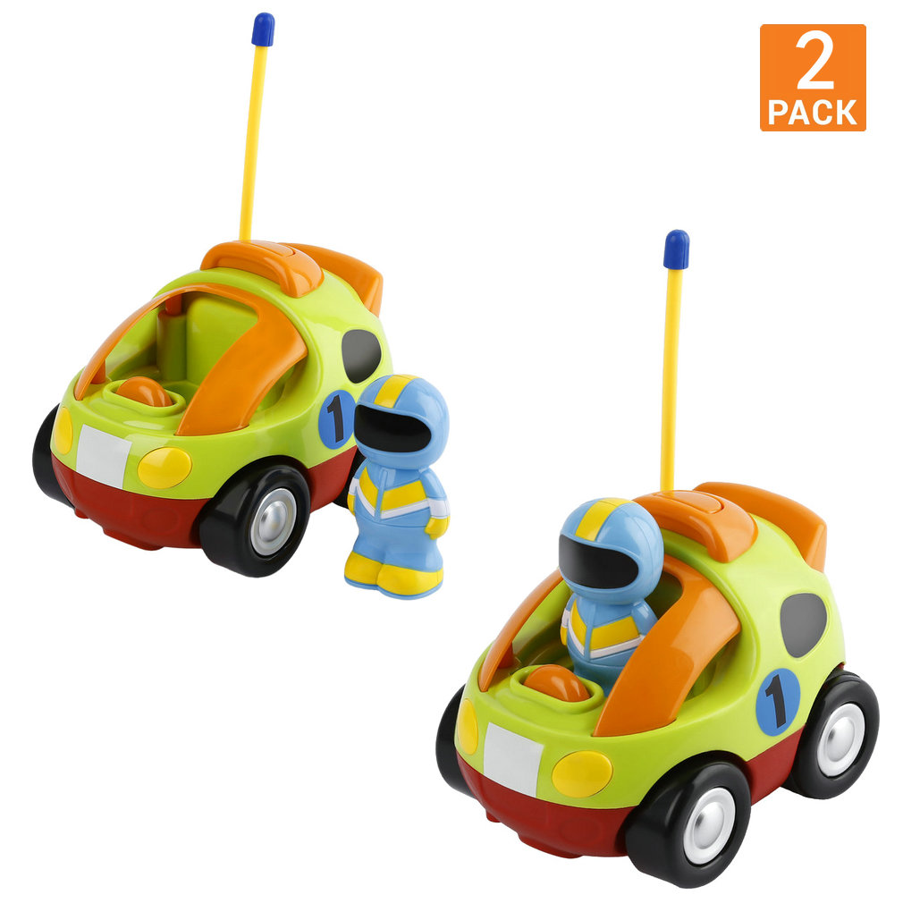 Cartoon RC Train Car with Music and Lights Radio Control Toy for Toddlers Kids