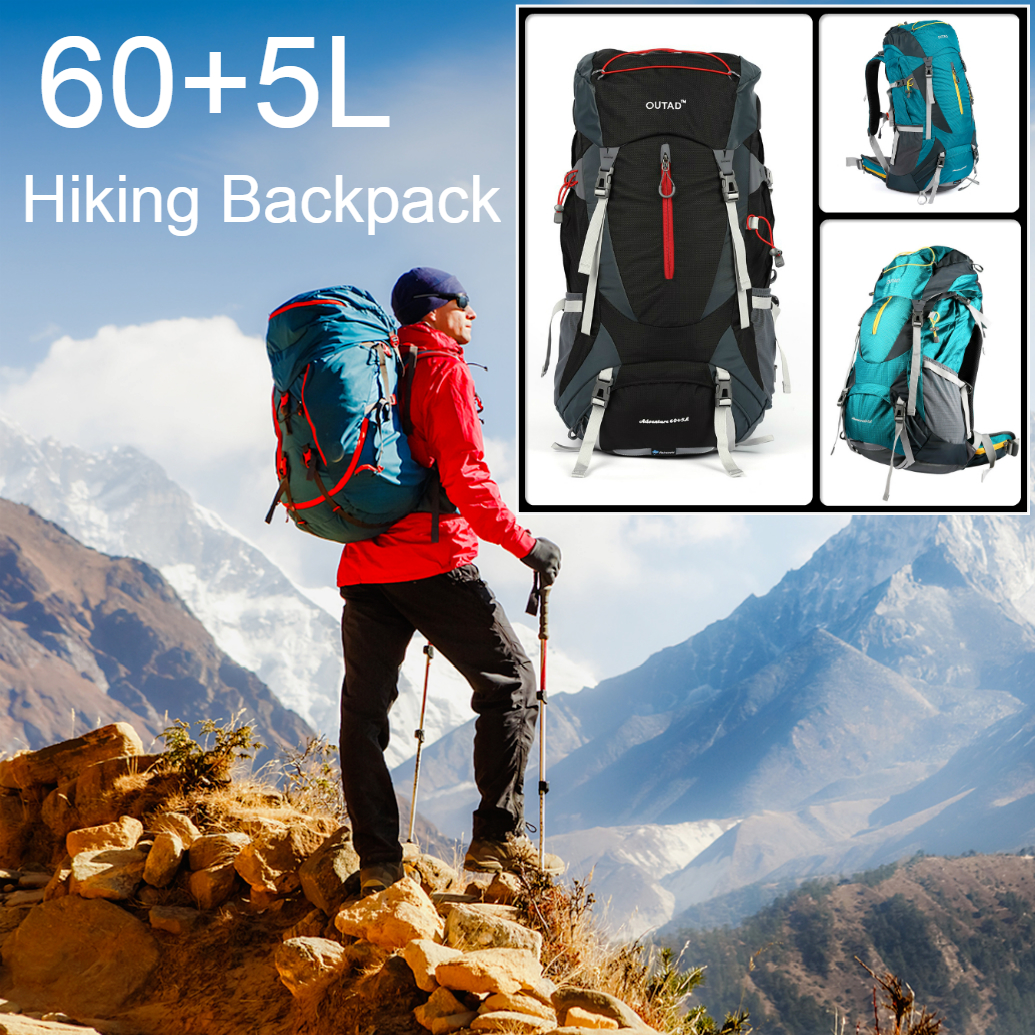 60L Hiking Travel Rucksack Trekking Outdoor Backpack Camping Bag Daypacks Unisex