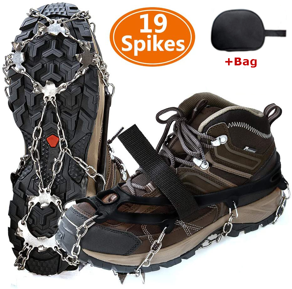 Ice Crampons Cleats Anti-slip Shoes Spike Grips Boots Traction Grippers Hot