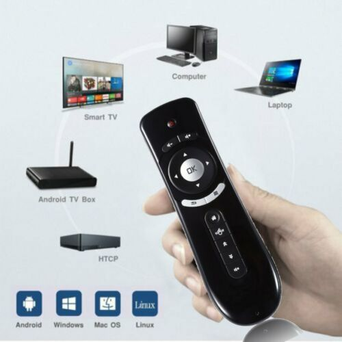 2.4GHz Air Mouse Remote Control with Wireless Keyboard Portable Controller for Android Smart TV Box USB Receiver