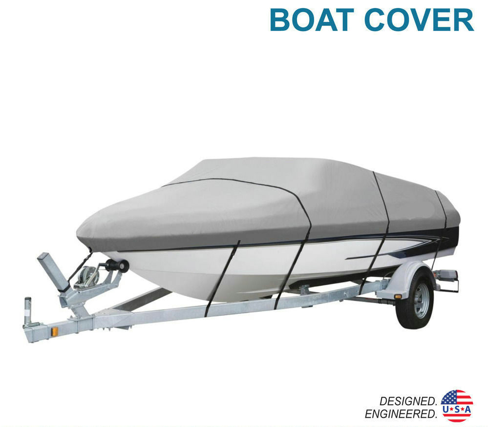 Universal 20ft to 22ft Length Trailer Fishing Ski Boat Cover Waterproof Blue