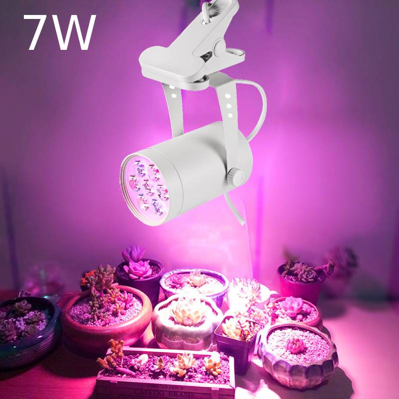 LED Plant Grow Licht 7W 360 Degree Adjustable Indoor Plant Lights With Clip