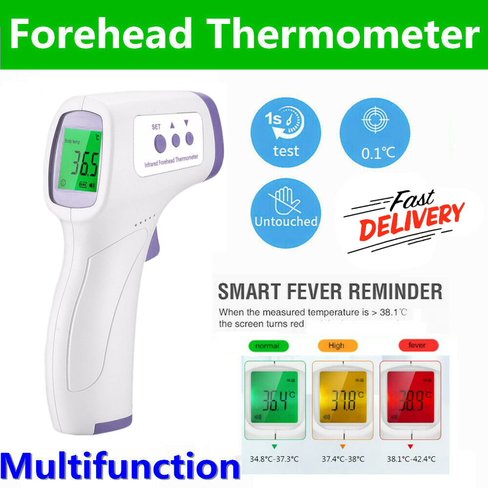 Forehead Thermometer Digital Termometro For Non-Contact Fever Body /& Object NEW
