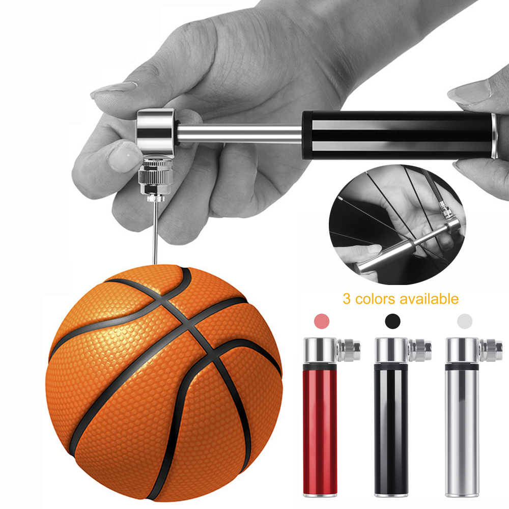 Outdoor Cycling Bicycle Mini Air Pump Pressure Tyre Tire Sports Ball Inflator