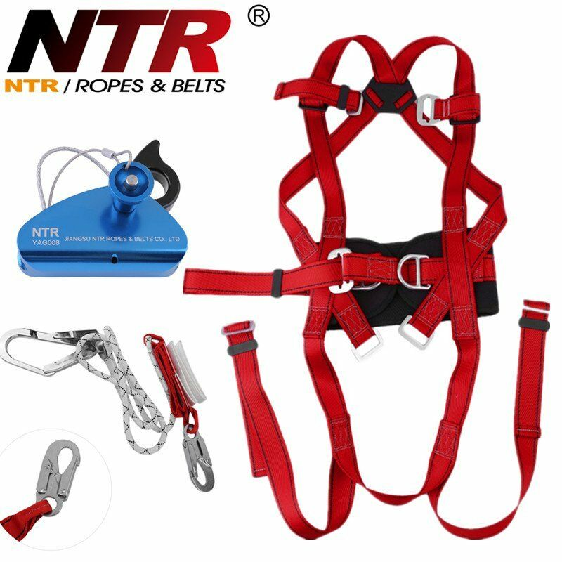 WO/_ Outdoor Full Body Safety Rock Climbing Tree Rappelling Harness Seat Belt Tre