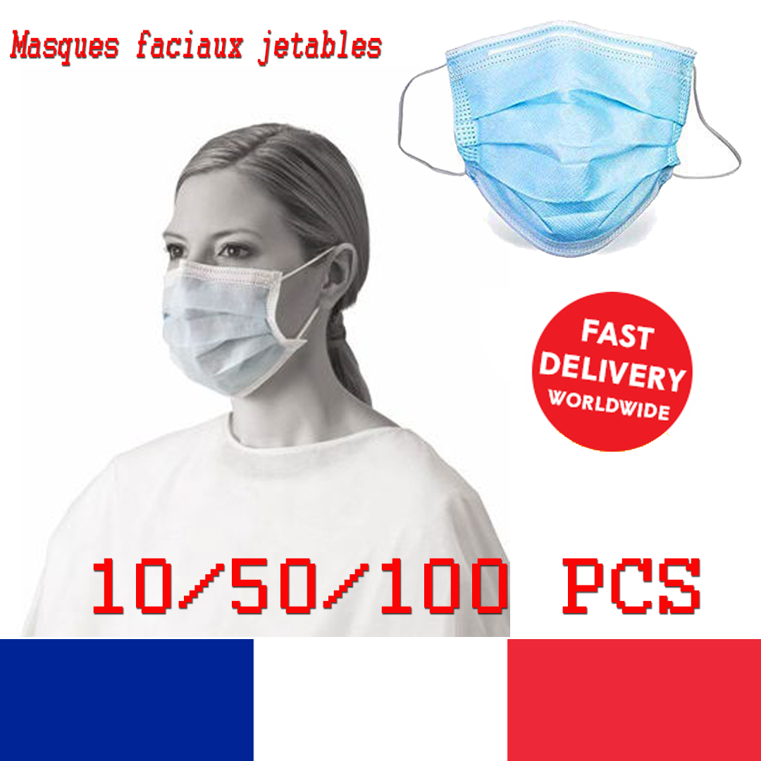 100 masques jetables