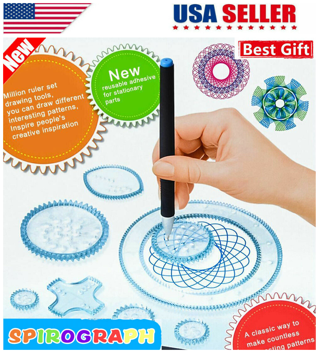 New Spirograph Geometric Ruler Stencil Spiral Art Classic Toy Stationery 2018