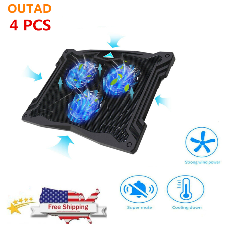 """Laptop Notebook Cooling Fan 2 USB Ports Cooler Pad Computer Stand for 17/"""" PC MA"""