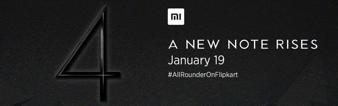 Mi Note 4 Launch on 19 January