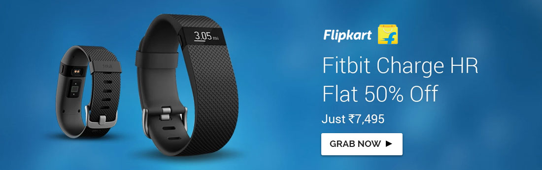 Fitbit Charge HR- Flat 50%