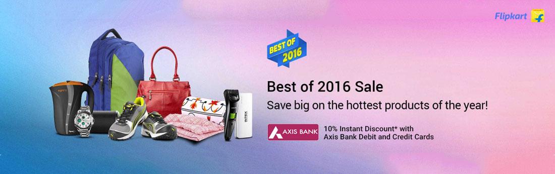 Flipkart- Best of 2016 Sale- Instatnt 10% Discount