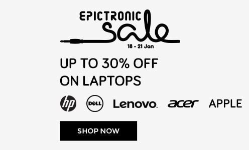 Epictronic Sale: Flat 10% Instant discount across all categories