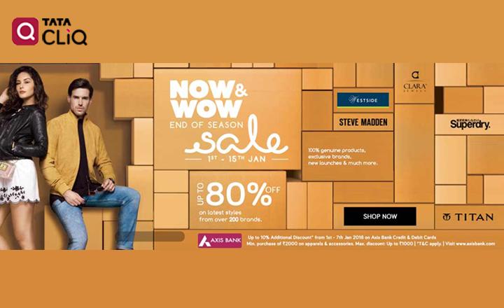 Tata Cliq- 1,000 instant discount on Apparels & Accessories