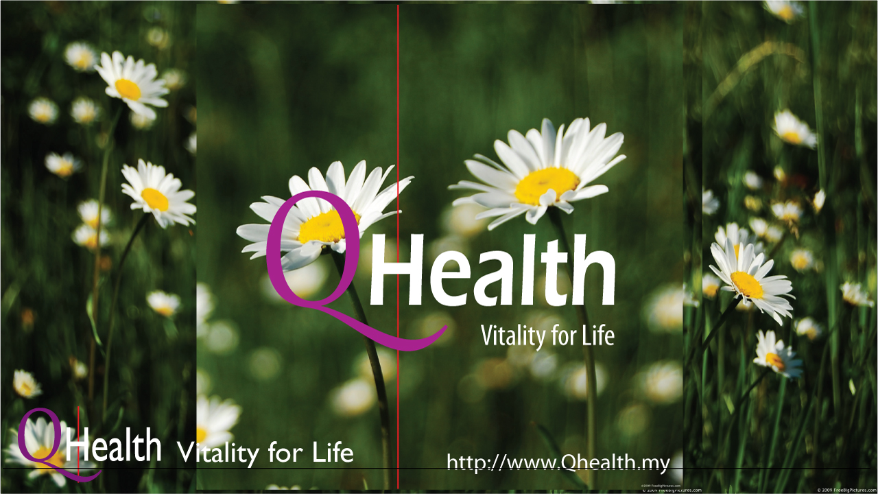 Branding Design for QHealth. Rectangular Format. Image 4A. Image size:1280x720px