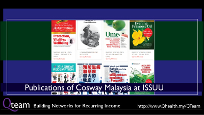 Official Publications of Cosway Malaysia at ISSUU. Image Size:400x225px
