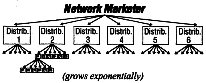 The Exponential Business Growth of Network Marketing Diagram.Image size:720x291px