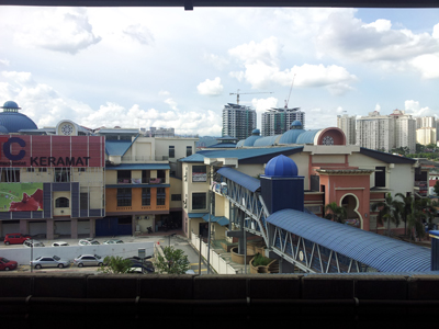 Keramat Mall is connected directly to the Damai LRT Station by overhead bridge. Image size:400x300px