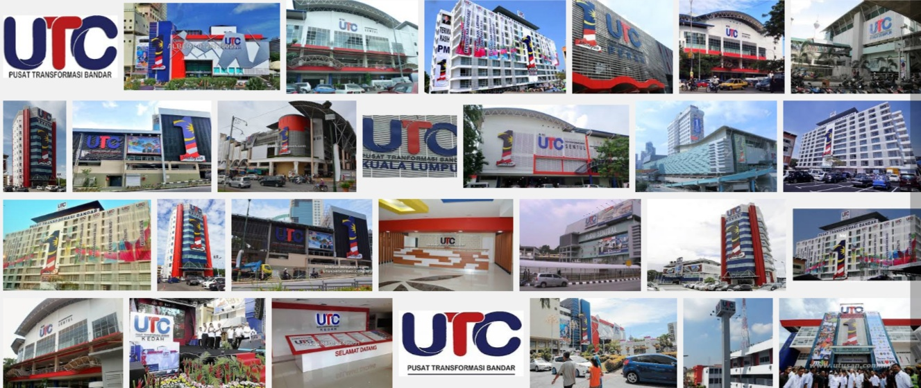 The UTC Centres in Malaysia.Image size:1327x560px