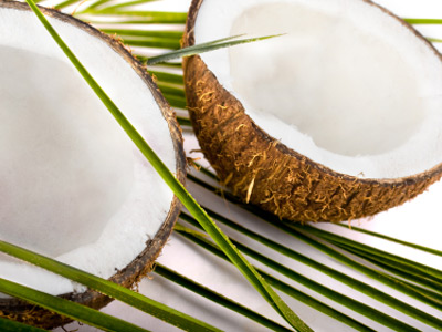 Coconut for first cold press virgin coconut oil. Image size:400x300px