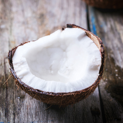 Coconut for first cold press virgin coconut oil. Image size:400x400px
