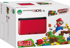 3DS XL Red w Super Mario 3D Land Console Bundle