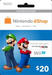 Nintendo eShop Prepaid Card (USD20)