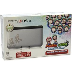 3DS XL Silver w Mario & Luigi Dream Team Console Bundle