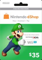 Nintendo eShop Prepaid Card (USD35)