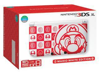 for all your gaming needs 3ds xl white mario edition. Black Bedroom Furniture Sets. Home Design Ideas