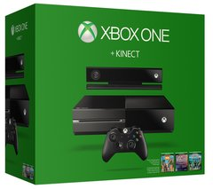 Xbox One 500GB Console with Kinect Family Games Bundle