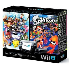 Nintendo Wii U 32GB Console Super Smash Bros and Splatoon Bundle