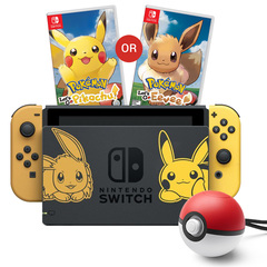 Nintendo Switch Console System Bundle /w Pokemon Let's Go
