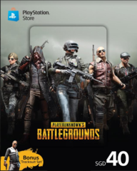 Playstation Network Card (SGD40) + PUBG Tracksuit Set