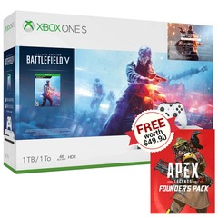 Xbox One S Battlefield V Bundle w/ Free Apex Legends Founder's Pack Code