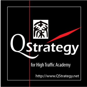 QStrategy for High Traffic Academy Mastery. Branding Logo Design 6A. Image size:300x300px