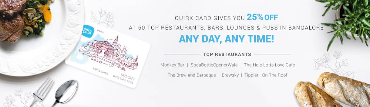 6 month Quirk card - Now available at Rs. 1399 instead of Rs. 1999