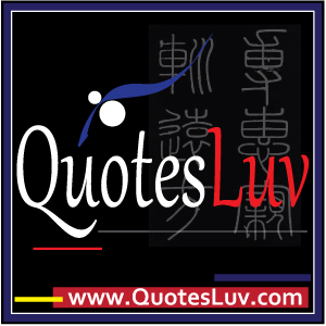 QuotesLuv Website Logo Design 4A. Black Theme. Big Image Size:300x300px